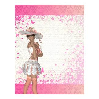 Pink summer girl flyer