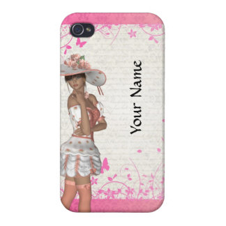 Pink summer girl iPhone 4/4S cover