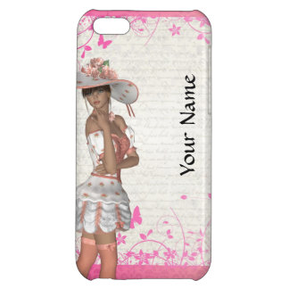 Pink summer girl iPhone 5C case