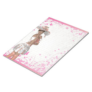 Pink summer girl memo notepads