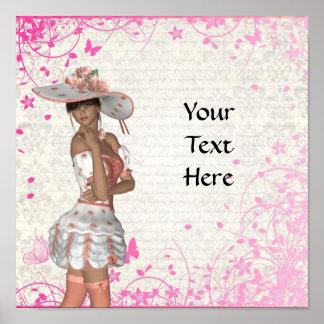 Pink summer girl print