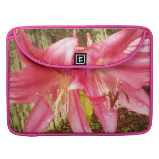 Pink Summer Lilies Floral Botanical MacBook Pro Sleeve