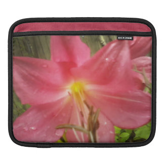 Pink Summer Lily Floral Botanical iPad Sleeves