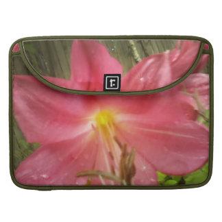 Pink Summer Lily Floral Botanical MacBook Pro Sleeves