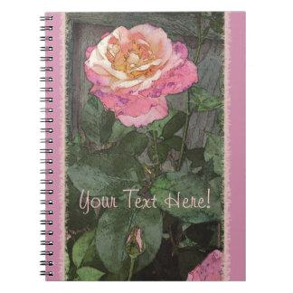 Pink Summer Rose Spiral Notebook