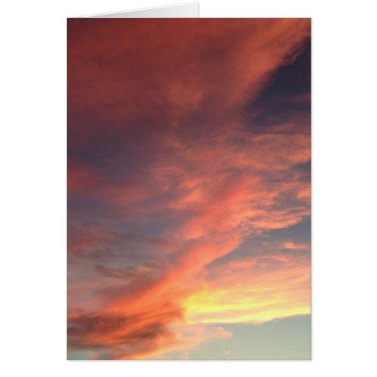 Pink Summer Sky Card