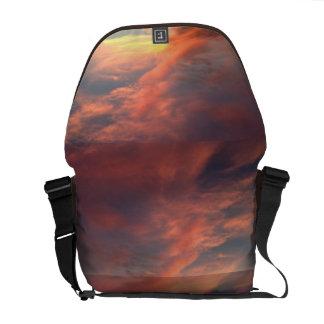 Pink Summer Sky Courier Bag