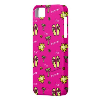 Pink Summer Sun and Fun iPhone 5 Case