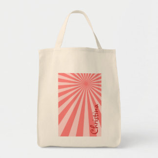 "Pink Sunburst ""Add Your Name"" Tote Bag"