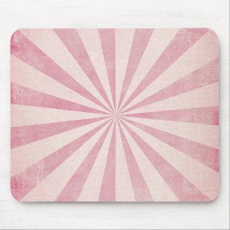 Pink Sunburst Starburst Vintage Rustic Burst Print Mouse Pad