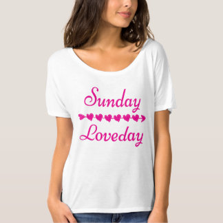 Pink Sunday Love Day Boyfriend slouch tee