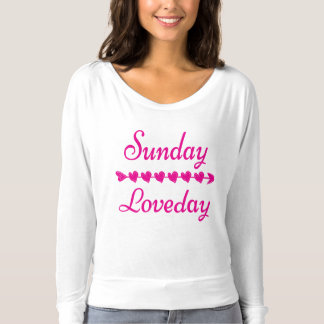 Pink Sunday Love day Shirt