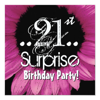 Pink Sunflower 21st Surprise Birthday Template