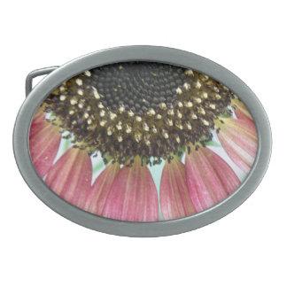 Pink Sunflower Belt Buckle