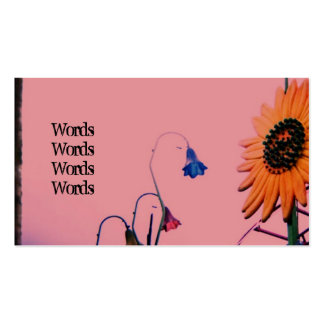 Pink Sunflower Business Card