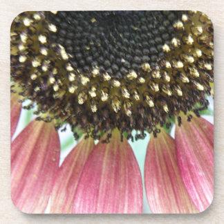 Pink Sunflower Cork Coaster