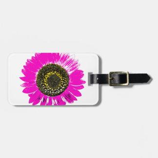 Pink Sunflower Bag Tag