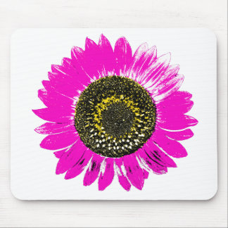 Pink Sunflower Mouse Pad