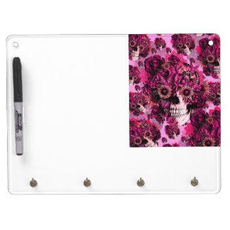 Pink sunflower ohm skull pattern. Dry-Erase whiteboards