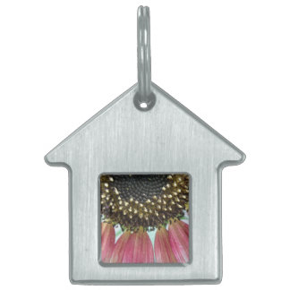 Pink Sunflower Pet Tag