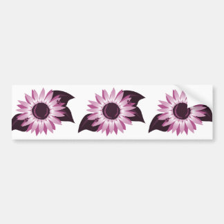 Pink Sunflower With Ladybugs Bumper Stickers