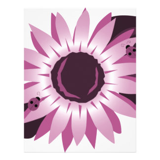 Pink Sunflower With Ladybugs Full Color Flyer