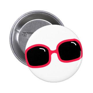 Pink Sunglasses 2 Inch Round Button
