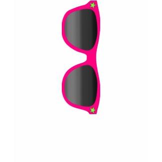 Pink Sunglasses Ladies T-shirt zazzle_shirt