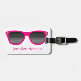 Pink Sunglasses Luggage Tag