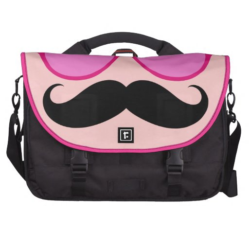 Pink Sunglasses & Mustache Laptop Bag