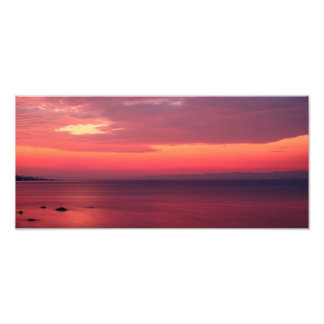 Pink Sunrise By The Seaside Photo Print