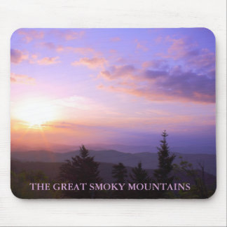 Pink Sunrise Great Smoky Mountains Mouse Pad