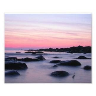 Pink Sunrise Ocean Beach Photo Print
