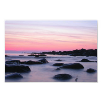 Pink Sunrise Ocean Beach Photograph