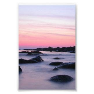 Pink Sunrise Ocean Beach Photo