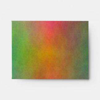 """Pink Sunrise"" R Monogram A2 Envelopes"