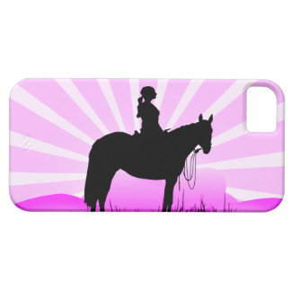 Pink Sunset Cowgirl iPhone Case