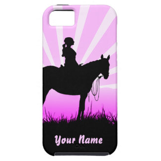 Pink Sunset Cowgirl iPhone SE/5/5s Case