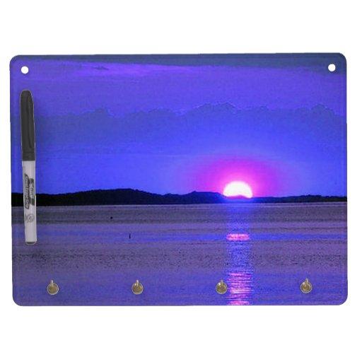 Pink Sunset Dry Erase Board