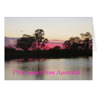 Pink sunset from Australia ! Greeting Cards