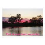 Pink Sunset from Australia Postcard
