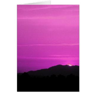 Pink Sunset Landscape Card