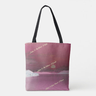 Pink Sunset Native American Saying Quotes Tote Bag