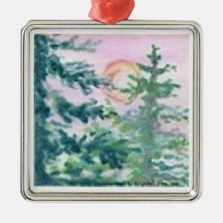 Pink Sunset Ornament
