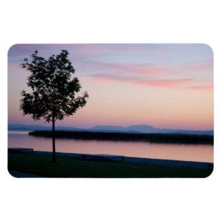 Pink Sunset Rectangular Photo Magnet