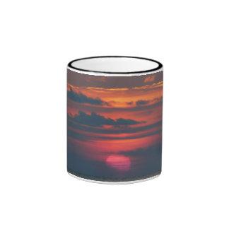 Pink Sunset Ringer Coffee Mug