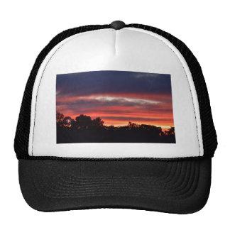 PINK SUNSET RURAL QUEENSLAND AUSTRALIA TRUCKER HAT