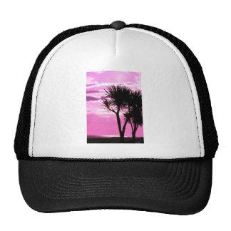 pink sunset trucker hat