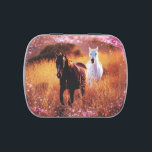 """Pink Sunset Western country Galloping Horses Candy Tin<br><div class=""""desc"""">Romantic  pink Sunset Western country Galloping Horse fashion accessories and horse home accessories.  Perfect western country wedding favors and ranch horse wedding favors. Elegant gifts for horse lovers and equestrian.</div>"""
