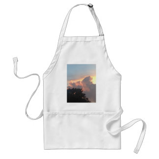 Pink sunset with tree line adult apron